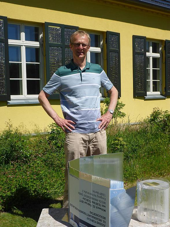 Dr. Hartmut Ehmler with Lightoven Ï upcycling